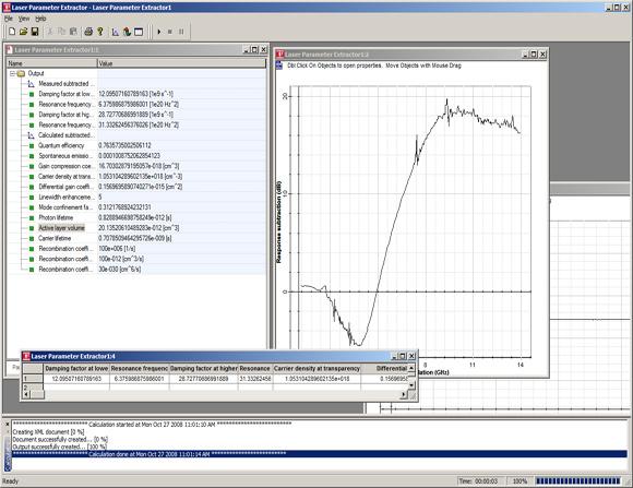 Laser Parameter Extractor