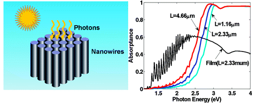 FDTD - Analysis of optical absorption in silicon nanowire arrays for photovoltaic applications