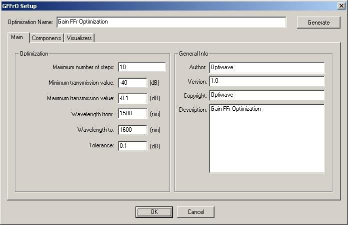 Optical System - Figure 3 - Optimization main parameters