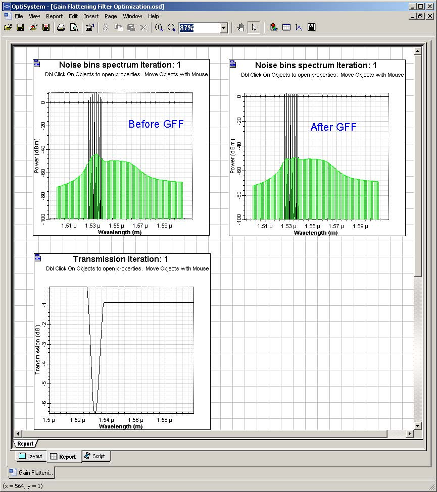 Optical System - Figure 5 - Signals before and after the filter
