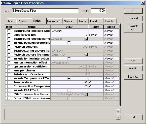 Optical System - Figure 4 - Enhanced tab with simulation setup