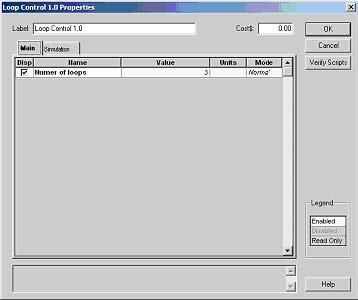 Optical System - Figure 9 - Loop control parameters