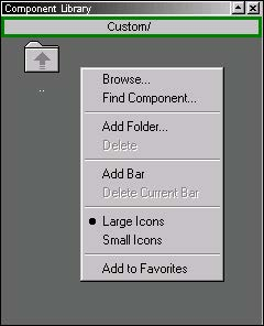 Optical System - Figure 15 - Creating a custom folder menu