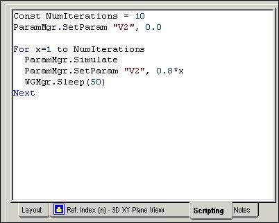BPM - scripting window