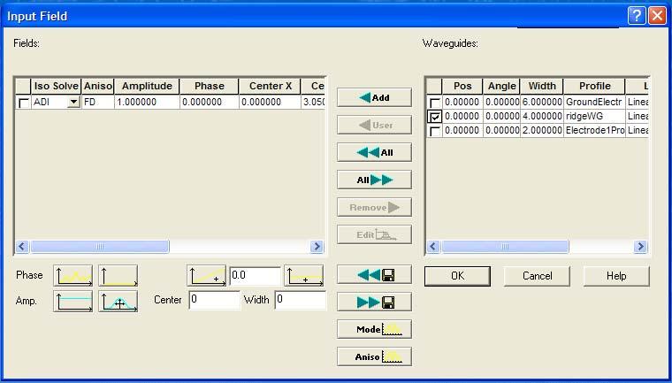 BPM - Figure 25 Input Field dialog