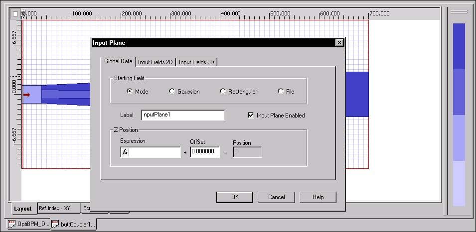 BPM - Figure 3 Input Plane dialog box