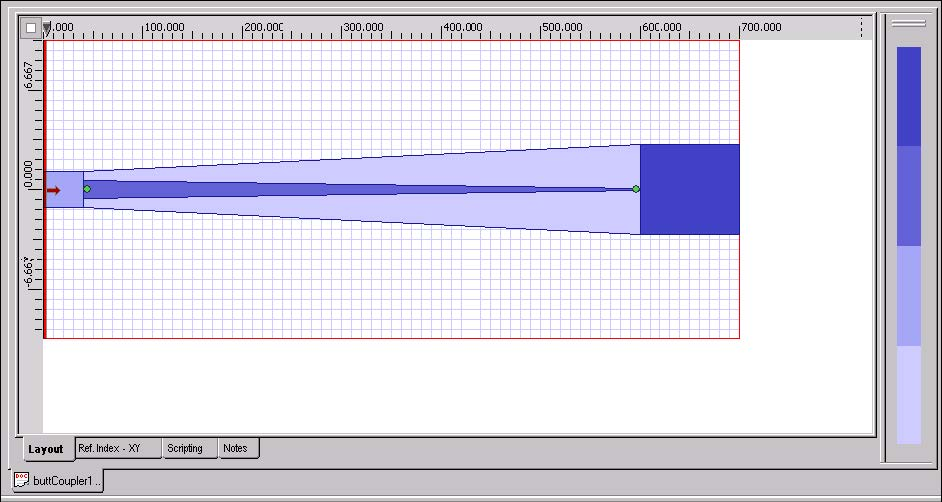 BPM - Figure 5 Layout design with top waveguide