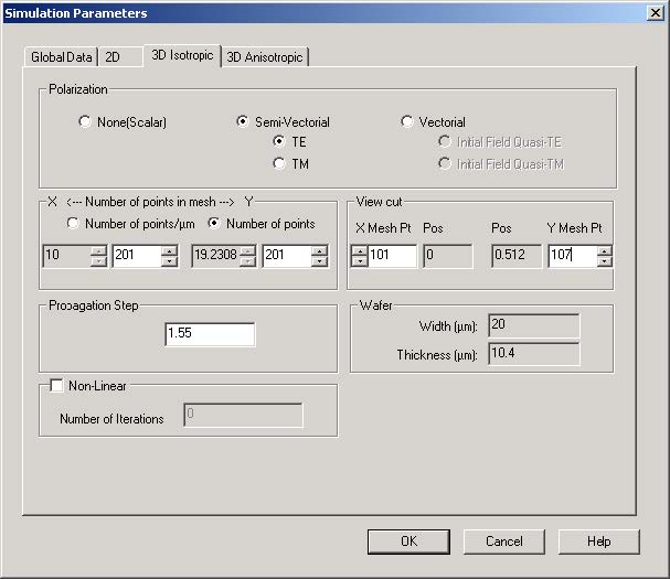 BPM - Figure 6 Simulation Parameters dialog box