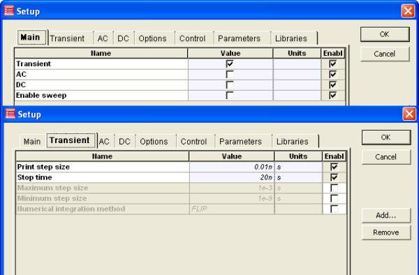 Optical SPICE - Figure 2 Analysis setup of EA Modulator