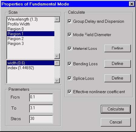 Optical Fiber - Properties of Fundamental Mode