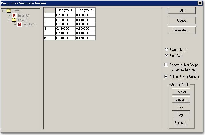 FDTD - Figure 6 Sweep data