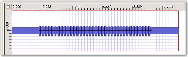 FDTD - Figure 4 Grating layout.