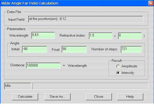 FDTD - Figure 4 Far-field Calculation dialog box
