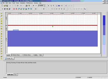 FDTD - Figure 2 OptiFDTD Designer window after Step 8.
