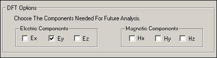 FDTD - Figure 39 DFT Options