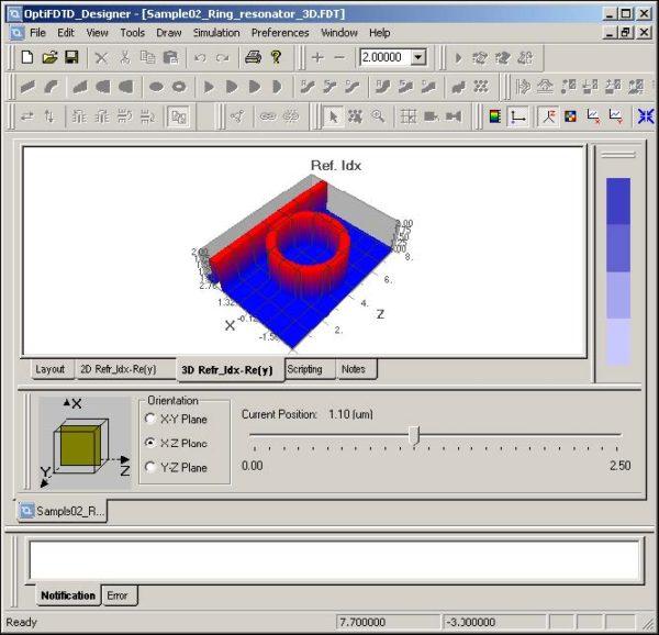 FDTD - Figure 28 3D Refractive Index tab