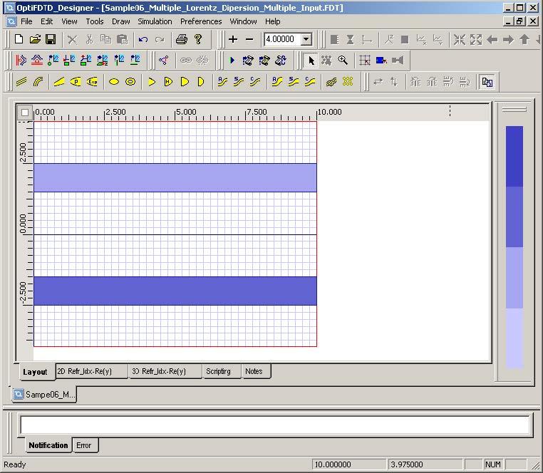 FDTD - Figure 3 Linear and Lorentz Dispersive waveguides