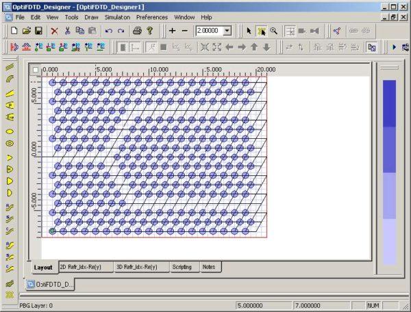 FDTD - Figure 95 PBG layout with new wavepath