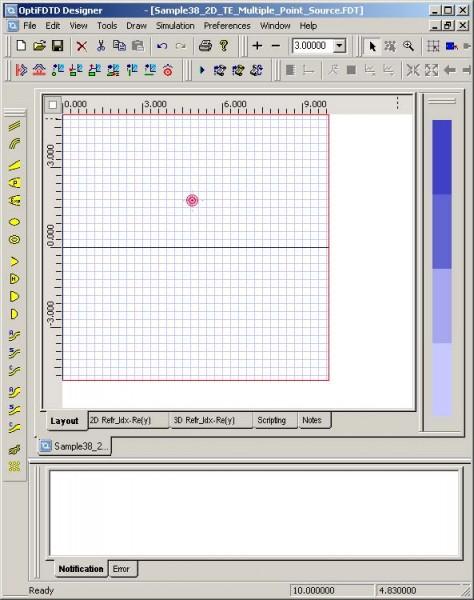 FDTD - Figure 83 Point Source in Input Plane layout