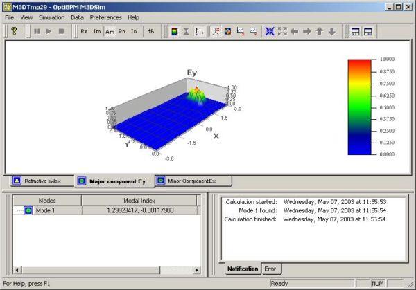 FDTD - Figure 27 Major component Ey tab
