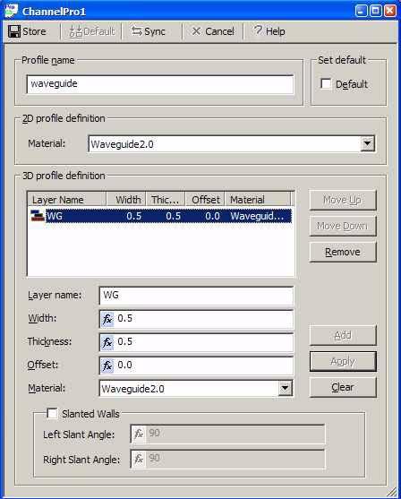 FDTD - Figure 6 ChannelPro1 dialog box