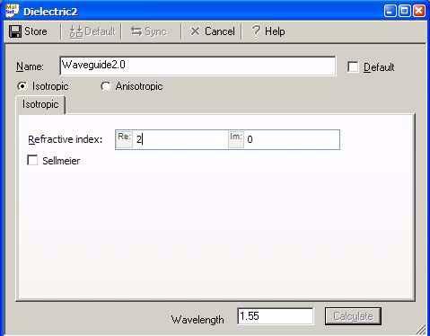 FDTD - Figure 5 Dielectric dialog box