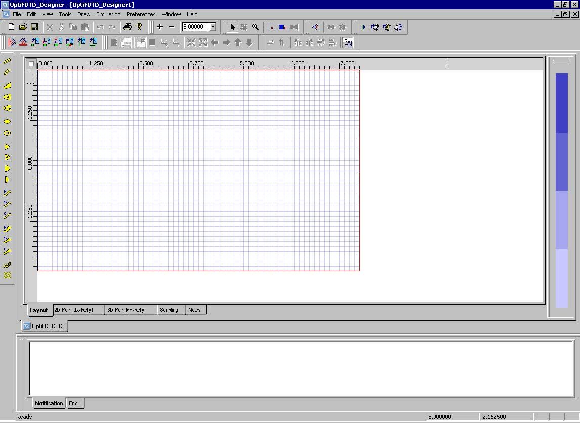 FDTD - Figure 11 Layout window