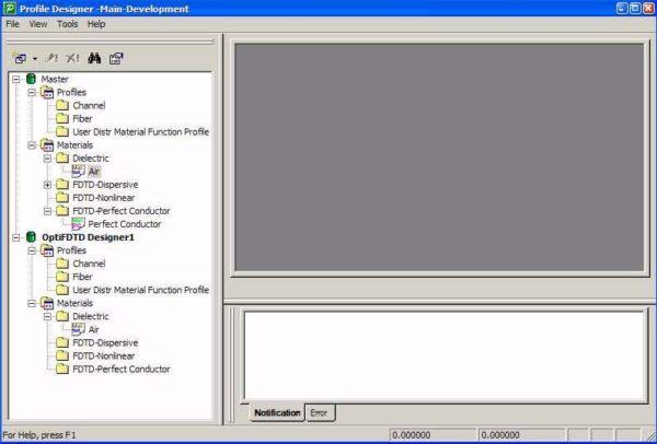 FDTD - Figure 3 Waveguide Profile Designer