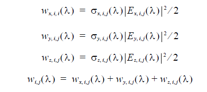FDTD - Equation heating absorption intensity for each polarization