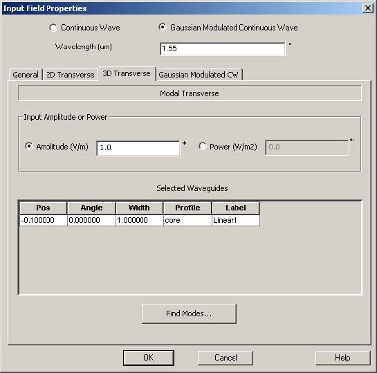FDTD - Figure 69 3D Modal Transverse field summary