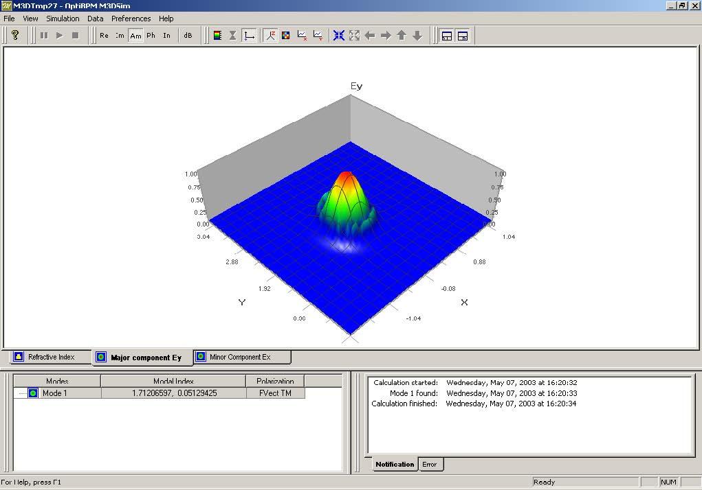 FDTD - Figure 73 Major component Ey view