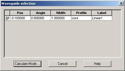 FDTD - Figure 70 Waveguide selection dialog box