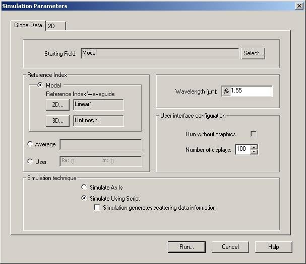 BPM - Figure 26 Simulation Parameters dialog box