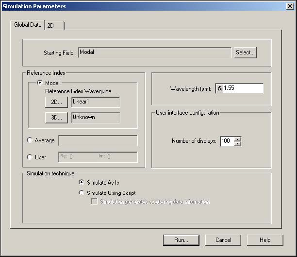 BPM - Figure 23 Simulation Parameters dialog box