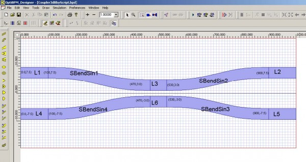 BPM - Figure 16 Waveguide co-ordinates