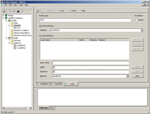 BPM - Figure 2 Profile Designer — WG1 Channel