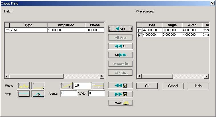 BPM - Figure 2 Items in Waveguide window