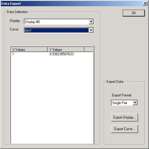 BPM - Figure 30 Power in output waveguides — Data Export dialog box