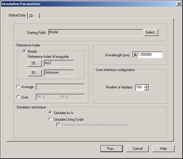 BPM - Figure 19 Simulation Parameters dialog box