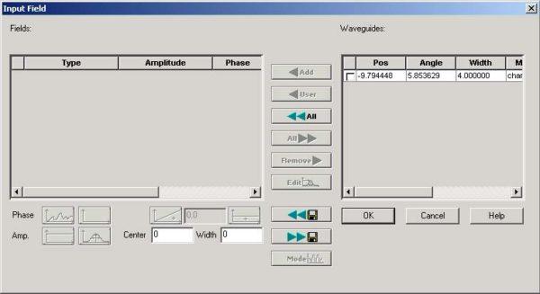 BPM - Figure 12 Input Field dialog box