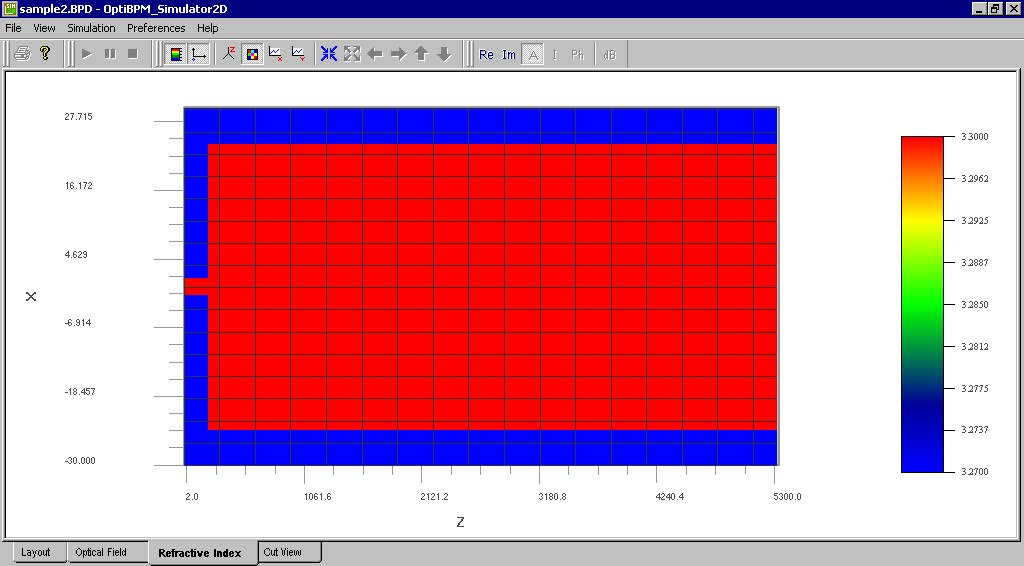 BPM - Figure 29 Refractive Index — 2D view