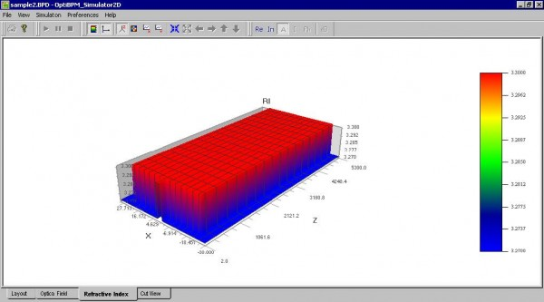BPM - Figure 26 Simulation — Refractive Index — 3D