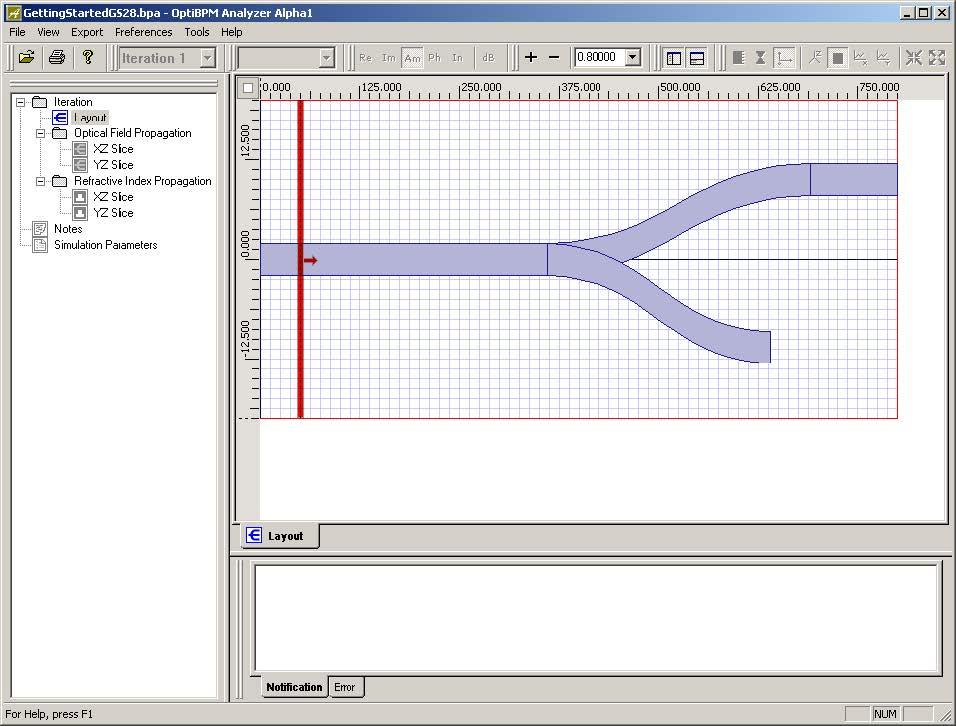 BPM - Figure 31 OptiBPM Analyzer