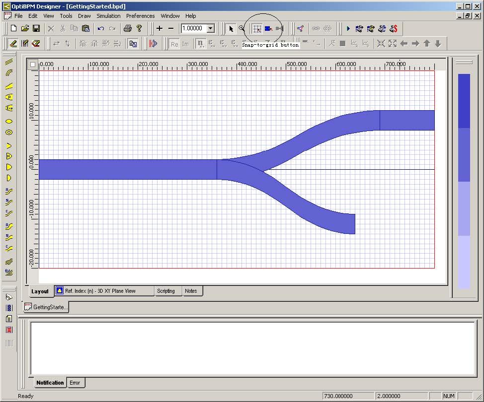 Optical BPM - Layout design