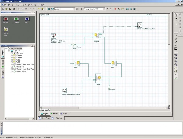 BPM - Ring resonator system schematic