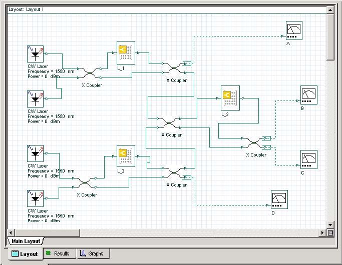 BPM - OptiSystem simple layout