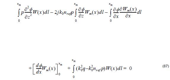 Optical BPM - Equation 87