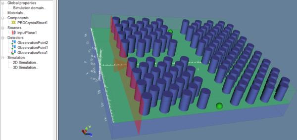 fdtd 3D photonic crystal t-branch