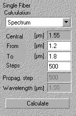 Optical Grating - Calculation list box