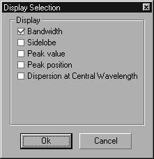 Optical Grating - Display selection